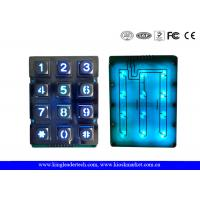Wholesale Illuminated Indoor Access Control Zinc Alloy Metal Keypad With 12 Keys from china suppliers