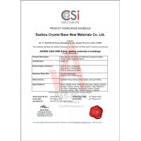 Suzhou Crystal Base New Materials Co.,Ltd Certifications