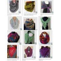 Wholesale Fashion Accessory New Style Knitting Scarf Loopschal Wave Knit Scarf, Crocheted Ruffle Sca from china suppliers