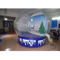 Wholesale Customized Inflatable Advertising Balloons , Clear PVC Xmas Inflatable Snow Igloo from china suppliers