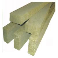 Quality Yellow 100mm Rockwool Insulation Board Fire Resistant For Steel Sandwich Panel for sale