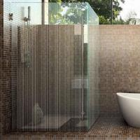 Quality Acid Etched Glass, Frosted, Shower Enclosures for sale
