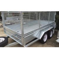 Wholesale 10 X 6 Steel Stock Crate Trailer / Tandem Cage Trailer For Animal Transport from china suppliers