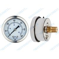 Wholesale 63mm  Liquid filled pressure gauge with brass movement , phosphor bronze tube from china suppliers