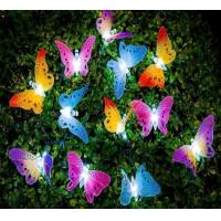 Solar Fiber Optic Butterfly Outdoor Garden Patio String Lights Christmas gift color changing LED