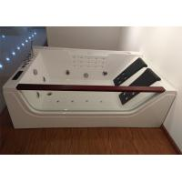 Wholesale Double pillows rectangular abs whirlpool bathtub with computer control from china suppliers