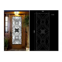 Wholesale Oval Shaped Iron Glass Entry Doors , Antiseptic Wrought Iron Doors With Glass from china suppliers