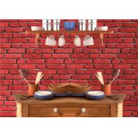 Wholesale Vintage Removable 3D Brick Effect Wallpaper , Foam Faux Brick Wall Covering Washable from china suppliers