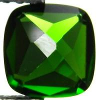 Wholesale 7mm Natural Green Chrome Diopside Cushion For Gemstone Jewelry from china suppliers
