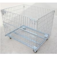 Wholesale storage boxes bins foldable cage wire mesh container steel container steel crate from china suppliers