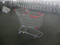 Wholesale PU Wheel Supermarket Shopping Carts with Bottom Rack , funky shopping trolley from china suppliers