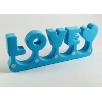 Wholesale Blue English words EVA Toe dividers with 4 holes Stone on it from china suppliers