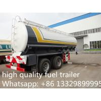 Wholesale hot sale 35000 litres 2 axles fuel tank trailer, best quality chemical tank trailer for sale, from china suppliers