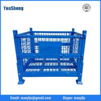 Buy cheap storage wire mesh box stack and fodlable warehouse mesh box from wholesalers