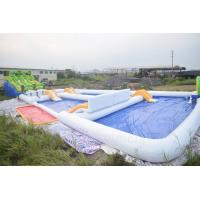 Kids And Adults Inflatable Water Park EN15649 Standard 0.9 Mm Pvc Tarpaulin