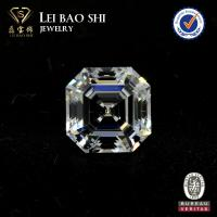 Wholesale 10mm 5A Grade Wholesale Prices White square asscher faceted cut cz gemstone cubic zirconia stone from china suppliers