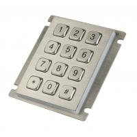 Wholesale 12 keys IP65 dust proof  long stroke stainless steel keypad with top panel mounting from china suppliers