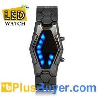 Wholesale Sauron - Japanese-inspired LED Watch - Red and Blue from china suppliers