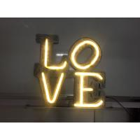 Wholesale Brightness Neon Vintage Love Marquee Letters For Wedding Party 50cm Gloss White from china suppliers