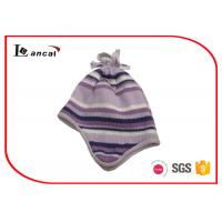 Wholesale 46cm Purple Womens Plaid Trapper Hat With Silver Lurex And Tassels from china suppliers