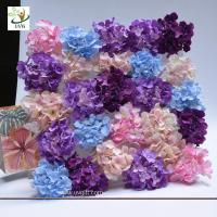 Quality UVG wonderful silk rose wall weddings with fake penoy flowers for wedding Décor CHR1143 for sale