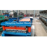 Wholesale 0.18mm - 0.2mm Thickness Corrugated Sheet Forming Machine With Hydraulic Cutting Device from china suppliers