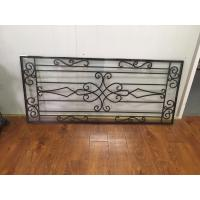 """Wholesale Galvanized Wrought Iron Glass 22""""*48"""" Black Inlaid Double  Tempered Glass from china suppliers"""