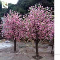 Wholesale UVG table centerpieces pink peach blossom small artificial tree for wedding photograph background decoration CHR158 from china suppliers