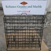 Wholesale Wire Waterfall Tile Display Racks Table Top Presentation Decorators from china suppliers