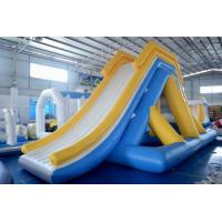 Wholesale 0.9mm PVC Tarpaulin Giant Inflatable Water Slide Floating Commercial Water Slides from china suppliers