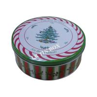 Wholesale Custom Printed Christmas Holiday Cake Cookie Tin Box Gift Packaging from china suppliers