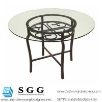 Wholesale Excellence quality round,oval,square,rectangle shape tempered furniture glass top from china suppliers