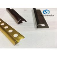 Wholesale Different Punched Metal Edging Strip Shiny Golden Aluminium Floor Strip Profile from china suppliers