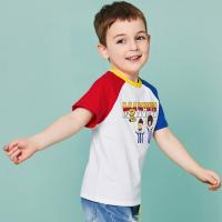 O - Neck Cotton Children's Style Clothing Color Combination / Baby Boy T Shirt for sale