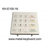 Wholesale Number Anti Vandal Metal Keypad / Kiosk Panel Mount Keypad Outdoor Use from china suppliers