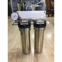 "Wholesale Two Stage Under Sink 10"" Stainless Steel Water Filter Water Purifier With Pressure Gauge from china suppliers"