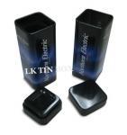 Chewinggum Small Tin Box Packaging Metal Square Tube Box 30 X 30 X 82 mm