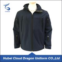 Wholesale 100% Polyester Navy Fleece Security Guard Jackets For Winter , Windproof from china suppliers