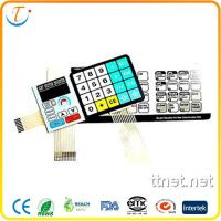 Wholesale PET / PC with Ordinary Adhesive Membrane Keypad for SMD LED Resistors / Connectors from china suppliers