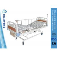 Wholesale Diagonal brake Manual Hospital Bed With aluminum alloy side rails and 4 cranks from china suppliers