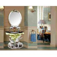 Wholesale Luxury Decorative Furniture Antique Resin Bathroom Sink Cabinet With Mirror from china suppliers