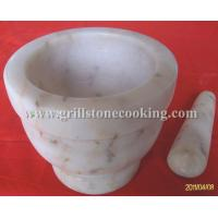 Wholesale White marble cookware mortar with pestle from china suppliers