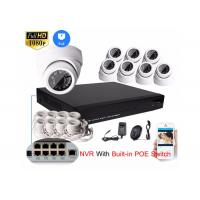 Wholesale HD 1080P 8CH NVR IP Camera NVR Kit 2mp Dome Cctv Camera Kit SATA HDD Recording from china suppliers