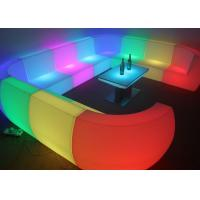 Wholesale Custom Made Royal Furniture L Shape LED Sofa Set for Hotel , Resorts pub from china suppliers