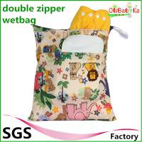 Wholesale Ohbabyka 30*36cm New Arrival Waterproof Double Zipper Pocket Snap Handle Wet Bags from china suppliers