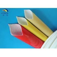 Wholesale Oil Resistant Benzene Resistant Braided Fiberglass Sleeve with Polyurethane Saturated from china suppliers