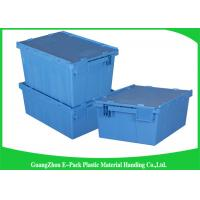 Quality Euro Nestable Heavy Duty Plastic Storage Containers , Plastic Box With Hinged Lid Leakproof for sale