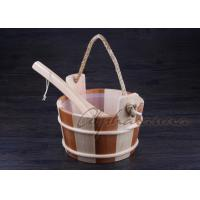 Wholesale Bottomless Sauna Bucket And Ladle Set Including Plastic Liner For Dry Sauna Accessories from china suppliers