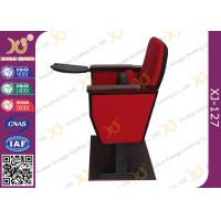 Quality Black Cold Rolled Double Leg Concert Hall Auditorium Chairs Plywood Armrest For Interior for sale