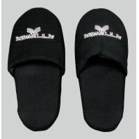 Wholesale Black Open or Close Toe Womens and Mens Hotel Slipper with EVA, Dot Shoe Sole from china suppliers